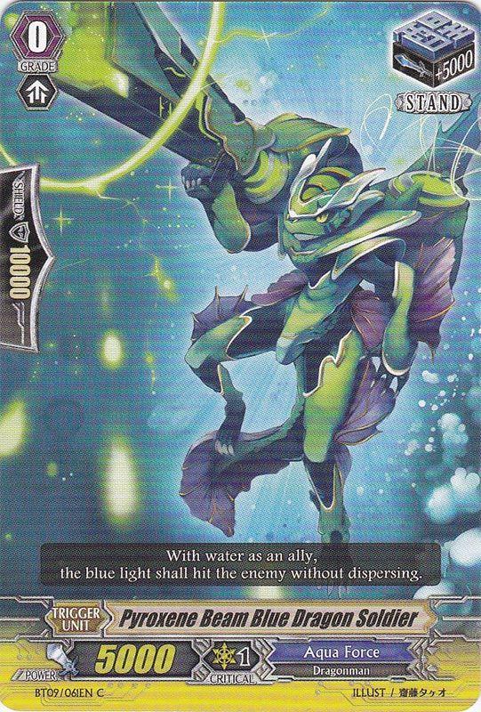 BT09/061EN Pyroxene Beam Blue Dragon Soldier Commune (C)