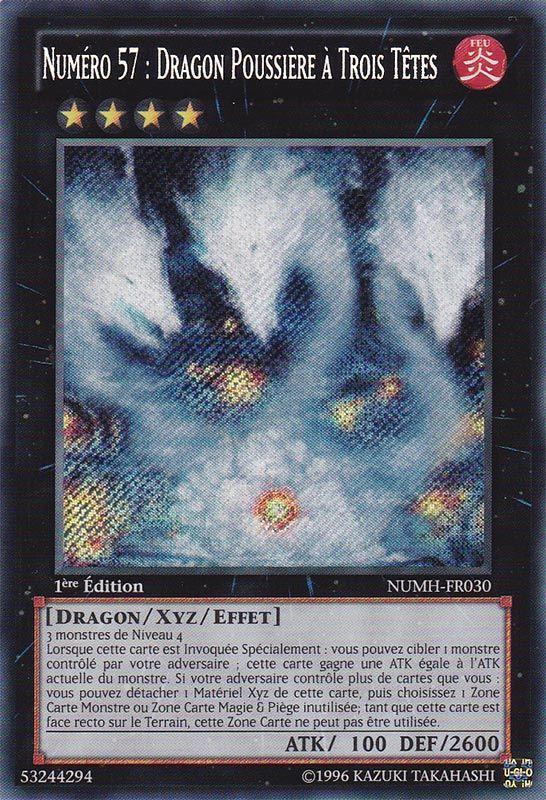 NUMH-FR030 Numéro 57 : Dragon Poussière à Trois Têtes Secret Rare