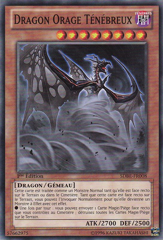 SDBE-FR008 Dragon Orage Ténébreux Commune
