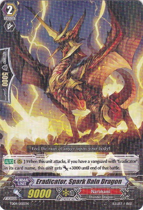 TD09/005EN Eradicator, Spark Rain Dragon Rare (R)