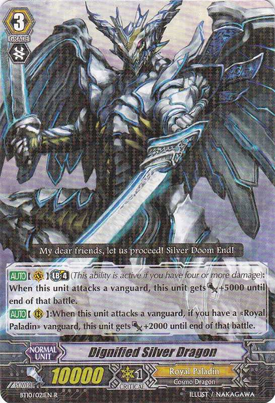BT10/021EN Dignified Silver Dragon Rare (R)