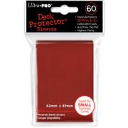 60 protèges cartes rouge