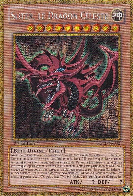 PGLD-FR032 Slifer, le Dragon Céleste Gold Secret Rare