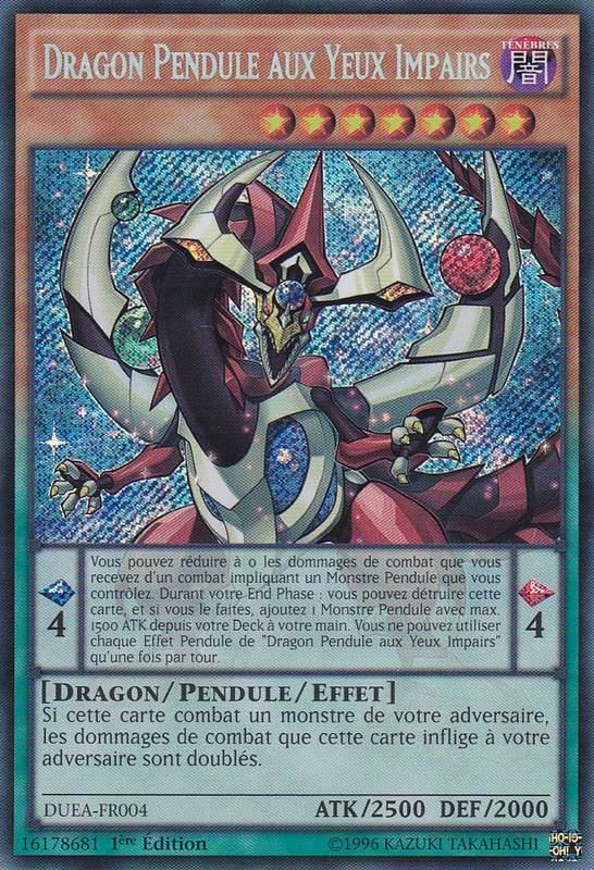 DUEA-FR004 Dragon Pendule aux Yeux Impairs Secret Rare