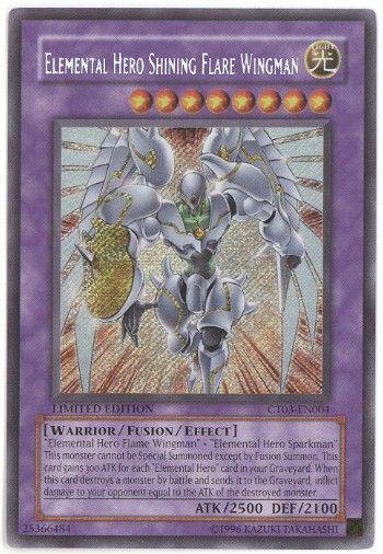 CT03-EN004 Elemental Hero Shining Flare Wingman Secret Rare