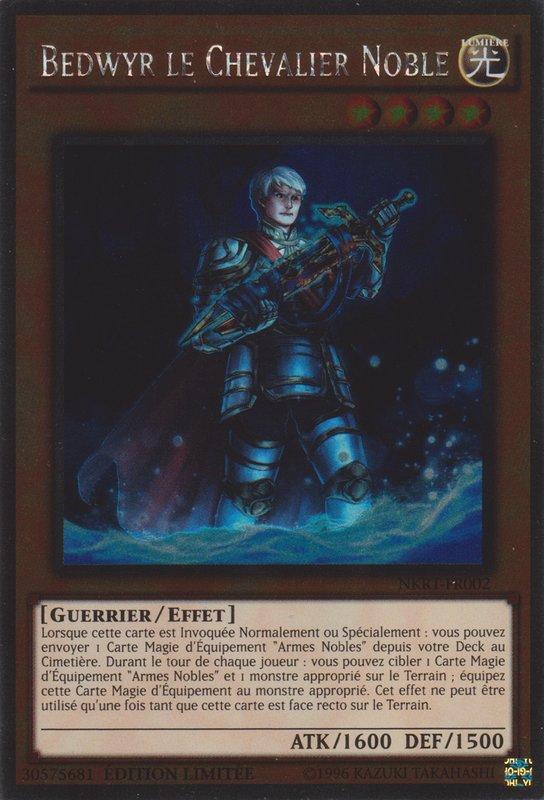 "Yu-Gi-Oh /""Chevalier Noble Gwalchavad/"" NKRT-FR007 Platinum rare"