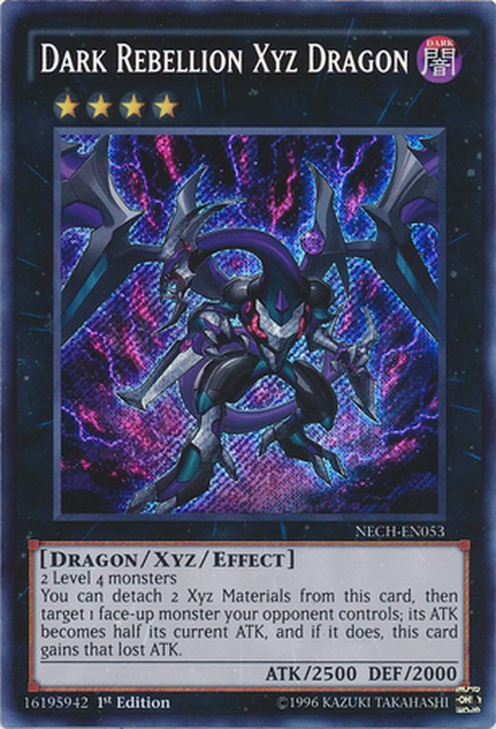 NECH-EN053 Dark Rebellion Xyz Dragon Secret Rare