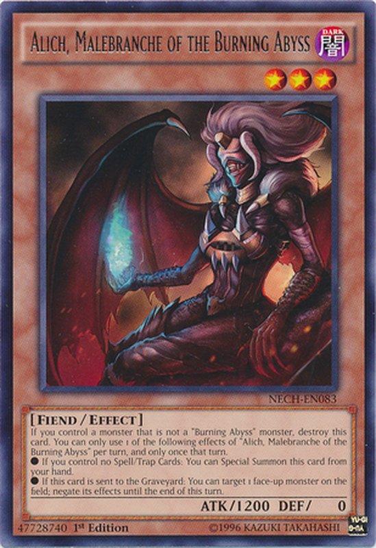 NECH-EN083 Alich, Malebranche of the Burning Abyss Rare
