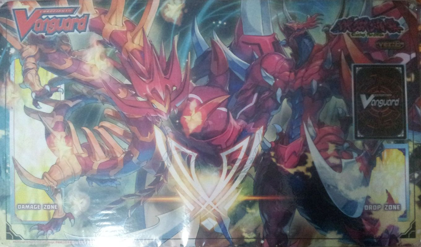 Tapis Cardfight Vanguard Perdition Emperor Dragon, Dragonic Overlord the Great et Perdition Dragon, Dragonic Neoflame
