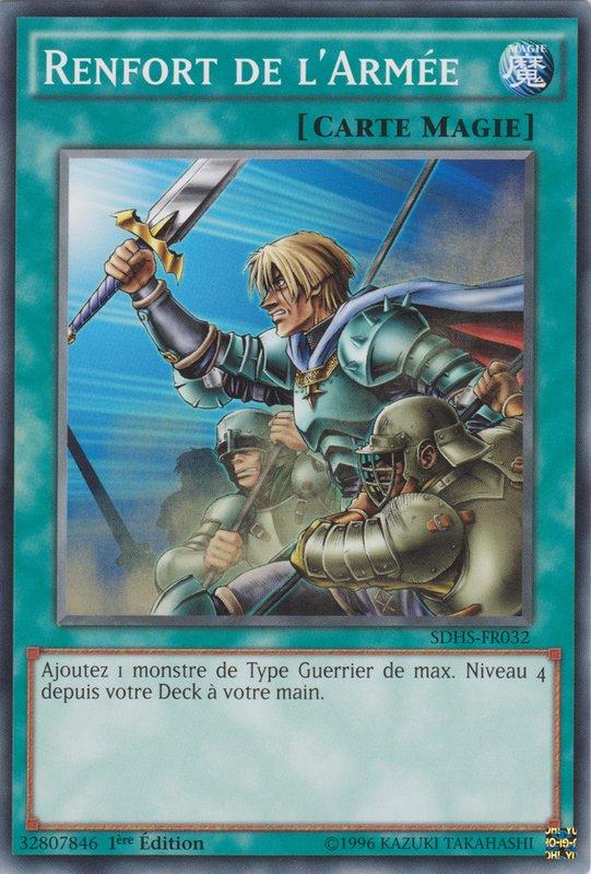RENFORT DE L/'ARMEE LCYW-FR173 Magie Normale =/> Guerrier YGO