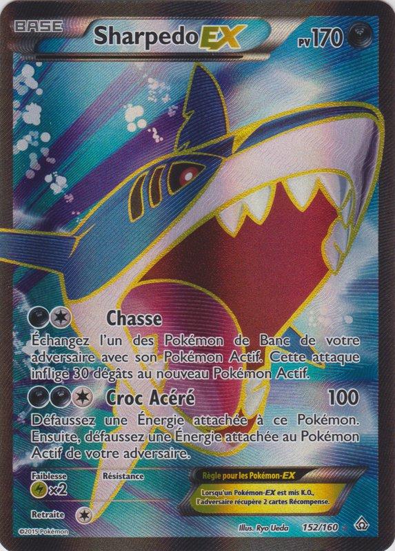 Xy5 152 160 sharpedo ex - Carte pokemon ex rare ...