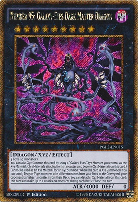 PGL2-EN015 Number 95: Galaxy-Eyes Dark Matter Dragon Gold Secret Rare