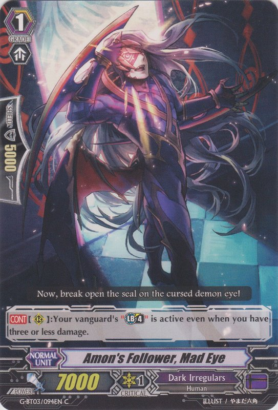 G-BT03/094EN Amon's Follower, Mad Eye Commune (C)