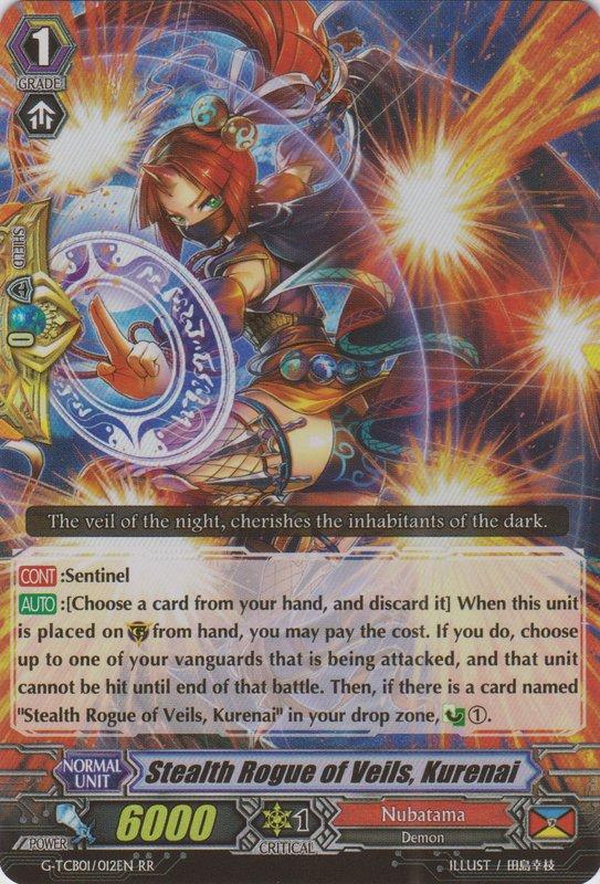 G-TCB01/012EN Stealth Rogue of Veils, Kurenai Double Rare (RR)