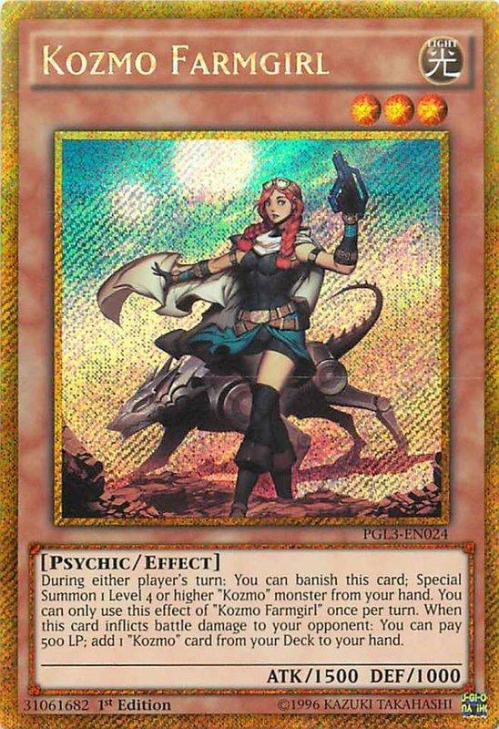 PGL3-EN024 Kozmo Farmgirl Gold Secret Rare