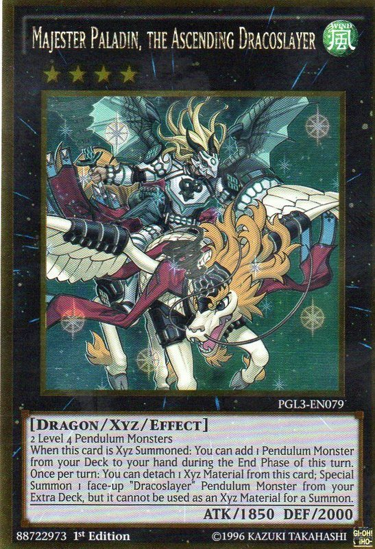 PGL3-EN079 Majester Paladin, the Ascending Dracoslayer Gold Rare