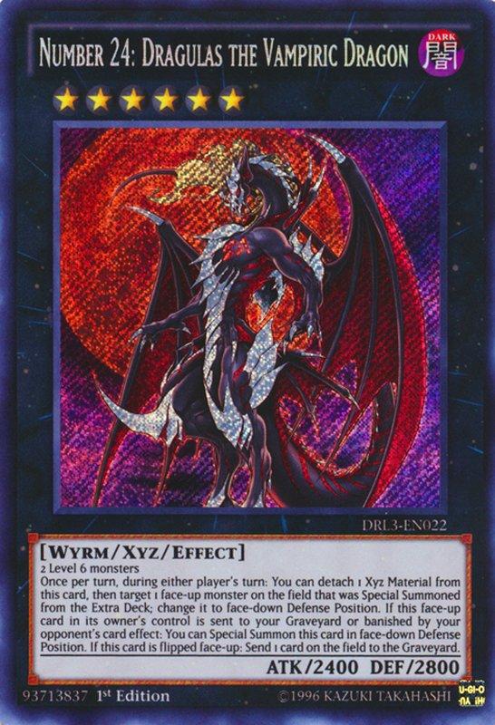 DRL3-EN022 Number 24: Dragulas the Vampiric Dragon Secret Rare