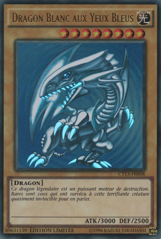 CT13-FR008 Dragon Blanc Aux Yeux Bleus Ultra Rare