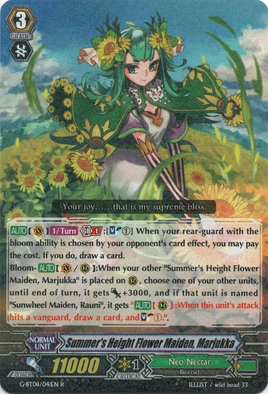 G-BT08/041EN Summer's Height Flower Maiden, Marjukka Rare (R)