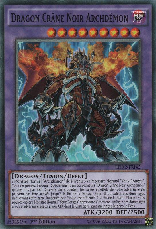 LDK2-FRJ42 Dragon Crâne Noir Archdémon Commune