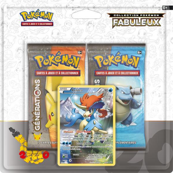 Pack 2 Boosters Pokémon Générations - Version Keldeo