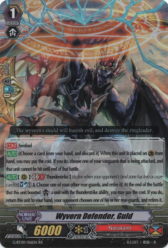 G-BT09/016EN Wyvern Defender, Guld Double Rare (RR)