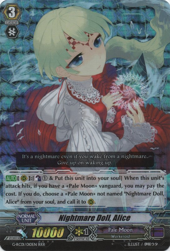 G-RC01/010EN Nightmare Doll, Alice Triple Rare (RRR)