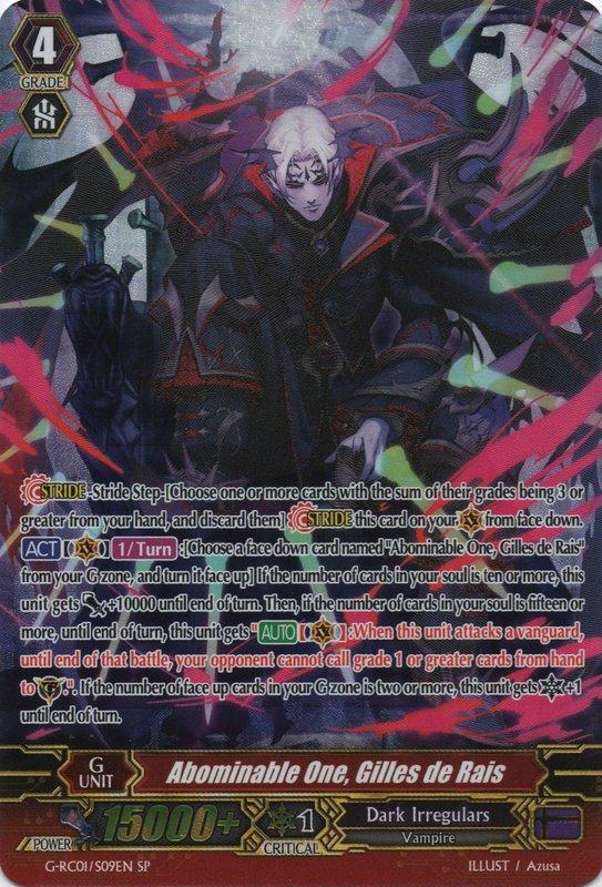 G-RC01/S09EN Abominable One, Gilles de Rais SP