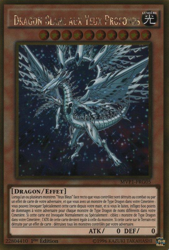 MVP1-FRG05 Dragon Blanc aux Yeux Profonds Gold Rare