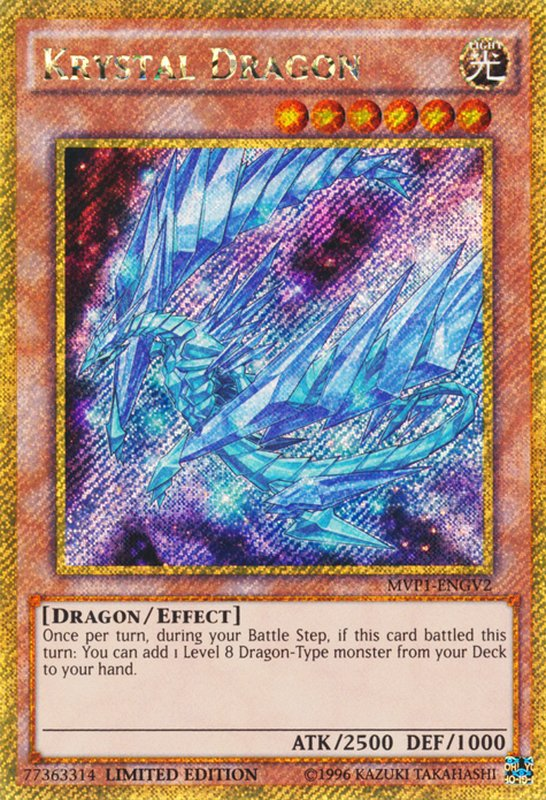 MVP1-ENGV2 Krystal Dragon Gold Secret Rare