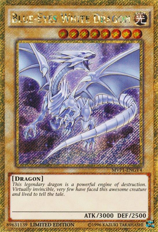 MVP1-ENGV4 Blue-Eyes White Dragon Gold Secret Rare