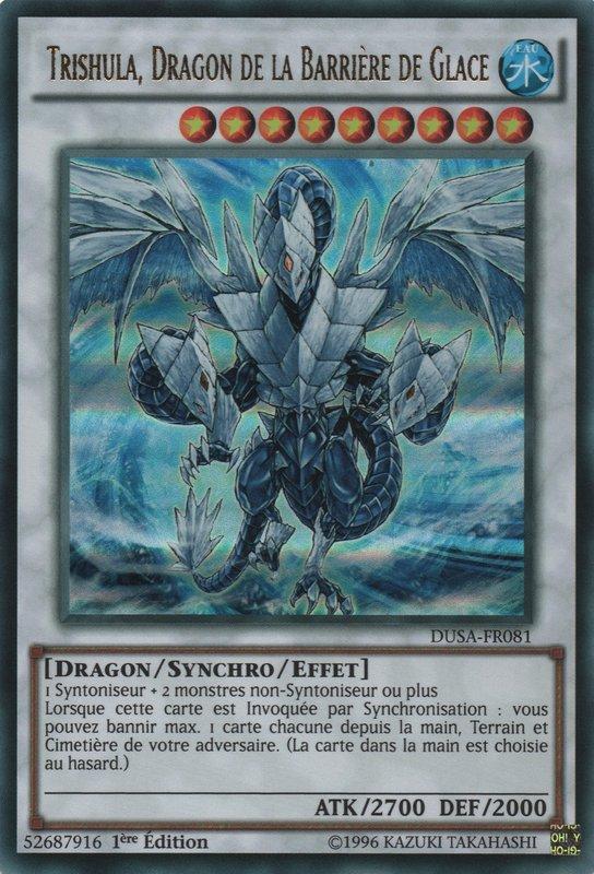 DUSA-FR081 Trishula, Dragon de la Barrière de Glace Ultra Rare