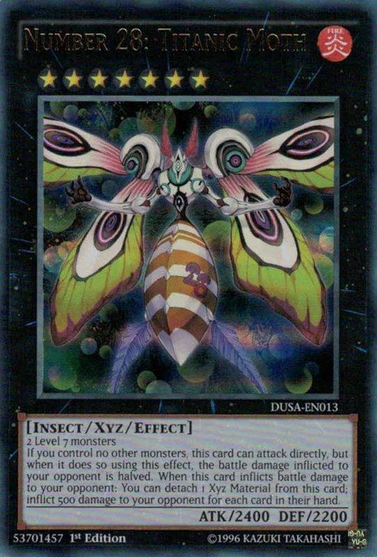 DUSA-EN013 Number 28: Titanic Moth Ultra Rare