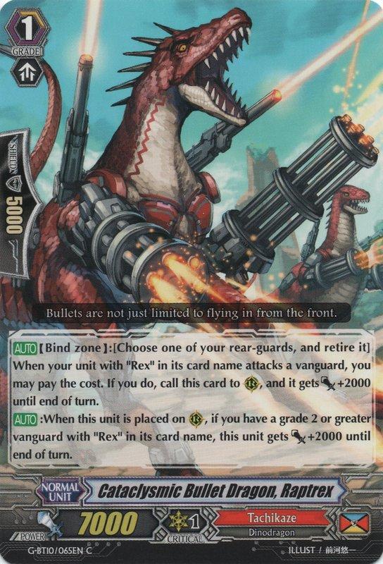 G-BT10/065EN Cataclysmic Bullet Dragon, Raptrex Commune (C)