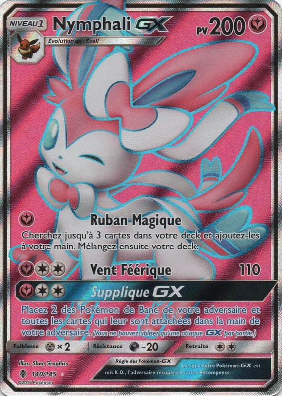 Sl02 140 145 nymphali gx - Carte pokemon fee ...