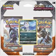 Pack 2 Boosters Pokémon Soleil et Lune 3 Ombres Ardentes - Version Miaouss d'Alola
