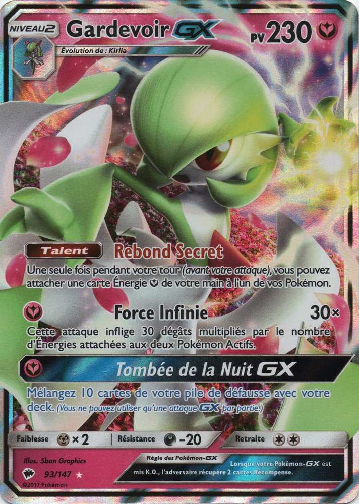 Sl03 93 147 gardevoir gx - Carte pokemon fee ...