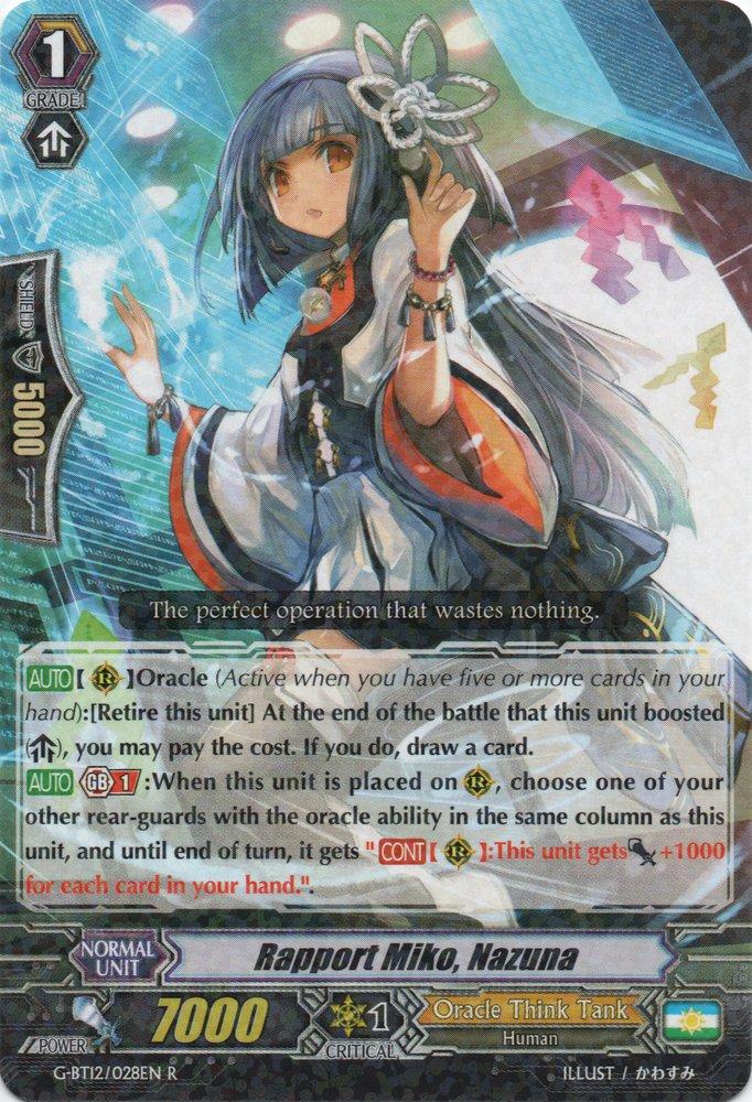 G-BT12/028EN Rapport Miko, Nazuna Rare (R)