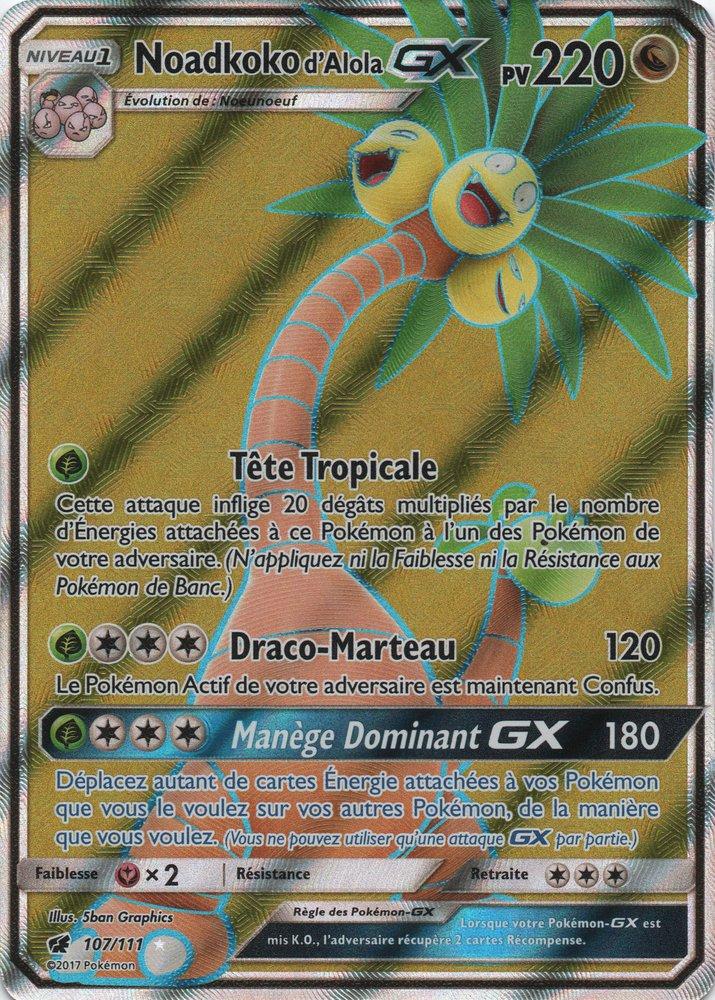 Sl04 107 111 noadkoko d 39 alola gx - Carte pokemon ex et gx ...
