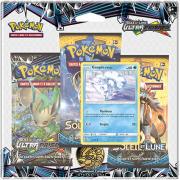 Pack 3 Boosters Pokémon Soleil et Lune 5 - Version Goupix d'Alola