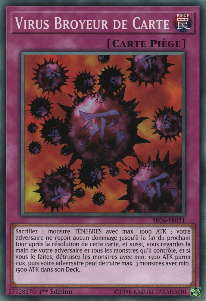 SR06-FR031 Virus Broyeur de Carte Commune