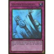 GLD5-EN045 Solemn Judgment Ghost/Gold Rare