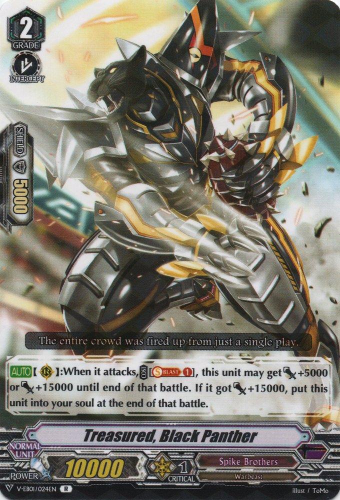 V-EB01/024EN Treasured, Black Panther Rare (R)