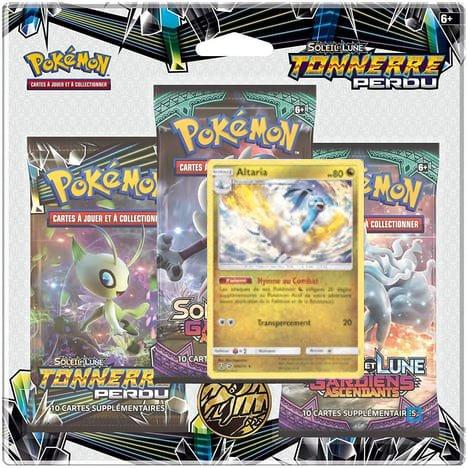 Pack 3 Boosters Pokémon Soleil et Lune 8 - Version Altaria