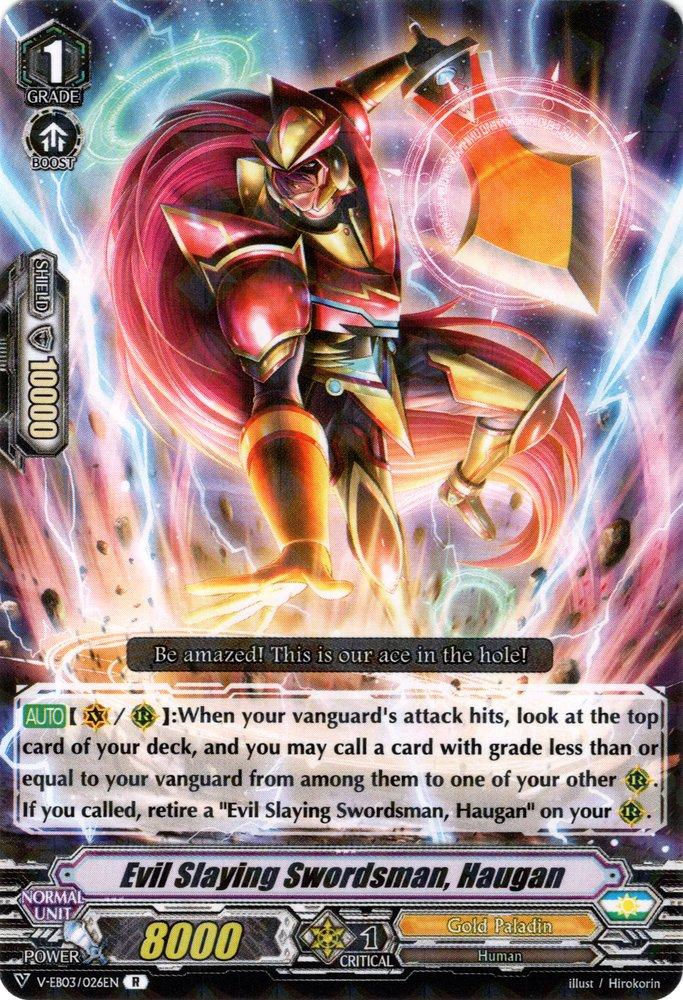 V-EB03/026EN Evil Slaying Swordsman, Haugan Rare (R)