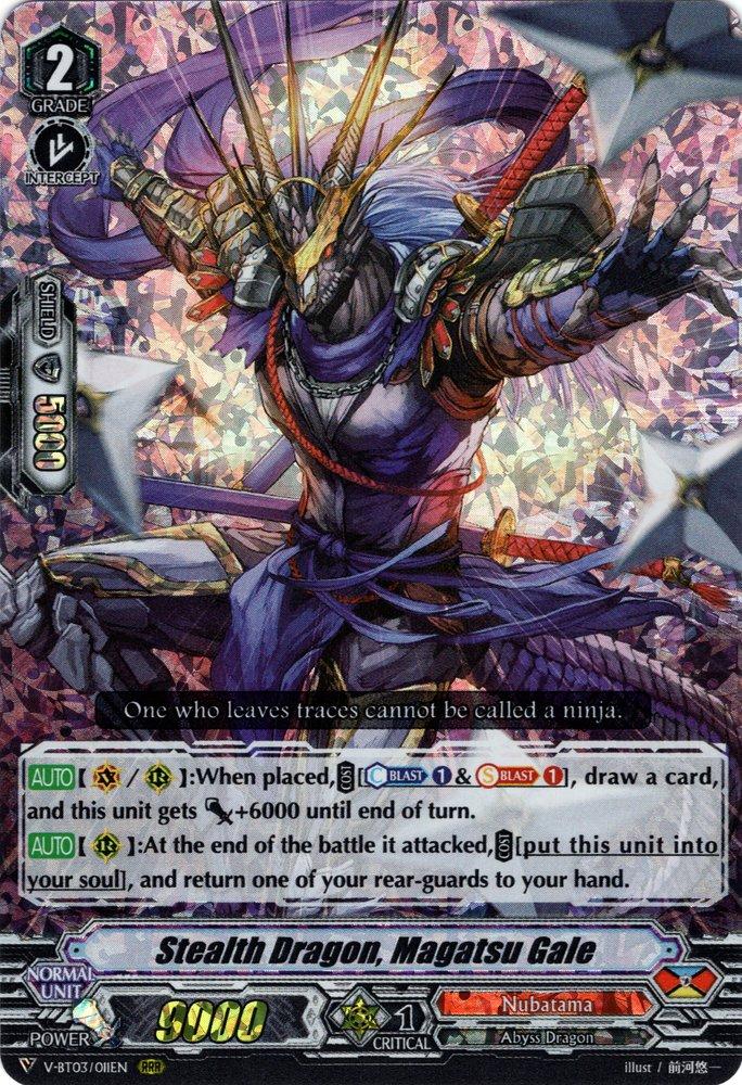 V-BT03/011EN Stealth Dragon, Magatsu Gale Triple Rare (RRR)