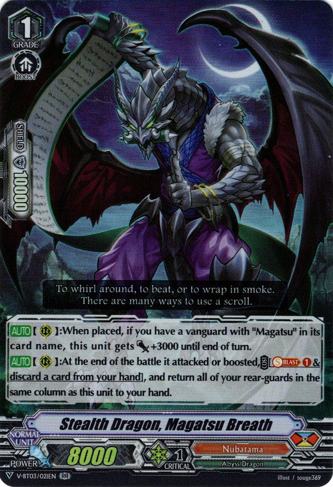 V-BT03/021EN Stealth Dragon, Magatsu Breath Double Rare (RR)