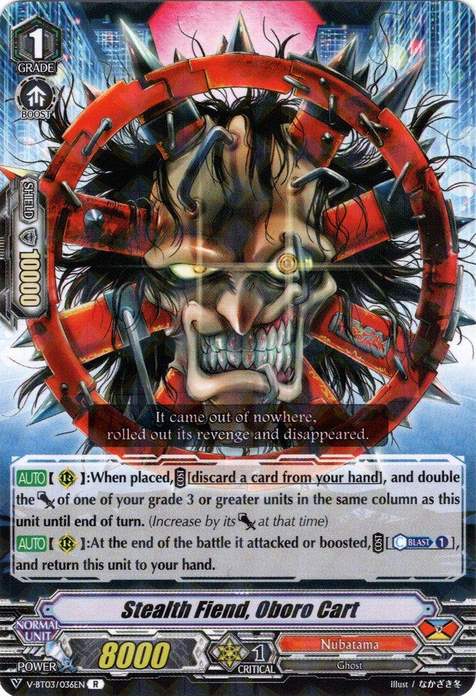 V-BT03/036EN Stealth Fiend, Oboro Cart Rare (R)