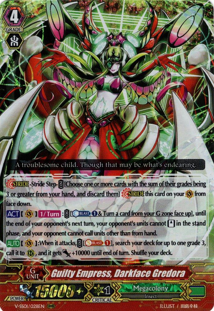 V-SS01/028EN Guilty Empress, Darkface Gredora Triple Rare (RRR)