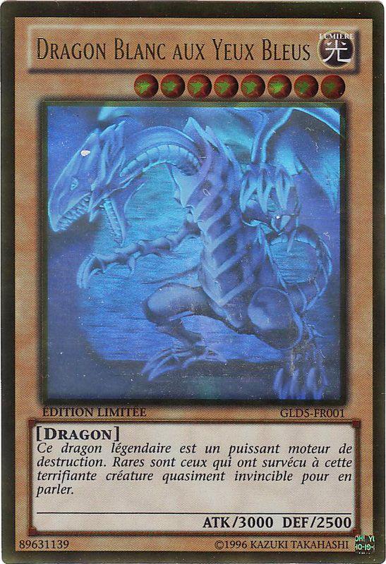 GLD5-FR001 Dragon Blanc Aux Yeux Bleus Ghost/Gold Rare